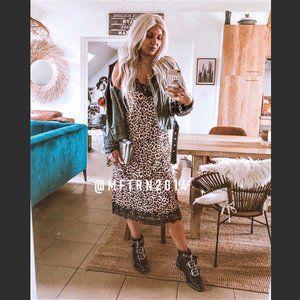 ZARA Animal Print Strappy Dress